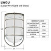 Large Wire Guard & Glass Thumbnail