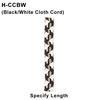 Black/White Cloth Cord/Over 8ft Standard Length Thumbnail