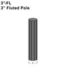 """3"""" Diameter, Ribbed/Fluted Pole Thumbnail"""