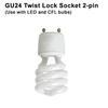 GU24 Twist Lock Bi-Pin Fluorescent & LED socket Thumbnail