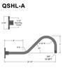 """QSNHL-A, 22""""Gooseneck Arm (3/4"""" NPT) Thumbnail"""