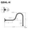 """QSNHL-H, 22"""" Gooseneck Arm (3/4"""" NPT) Thumbnail"""