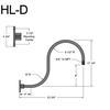 """HL-D, 23"""" Gooseneck Arm (3/4"""" NPT) Thumbnail"""