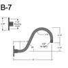 """B-7, 12"""" Gooseneck Arm (1/2"""" NPT) Thumbnail"""