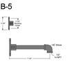 "B-5, 7"" Straight Arm (1/2"" NPT) Thumbnail"