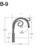 """B-9, 8"""" Gooseneck Arm (1/2"""" NPT) Thumbnail"""