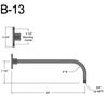 """B-13, 24"""" Arm (3/4"""" NPT) Thumbnail"""