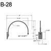 """B-28, 24"""" Gooseneck Arm (3/4"""" NPT) Thumbnail"""