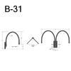 """B-31, 27"""" Gooseneck Arm (3/4"""" NPT) Thumbnail"""