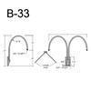 """B-33, 27"""" Gooseneck Arm (3/4"""" NPT) Thumbnail"""