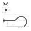 """B-8, 21"""" Gooseneck Arm (1/2"""" NPT) Thumbnail"""