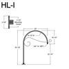 """HL-I, 29"""" Gooseneck Arm (3/4"""" NPT) Thumbnail"""