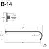 """B-14, 42"""" Arm (3/4"""" NPT) Thumbnail"""