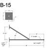"""B-15, 36"""" Arm (3/4"""" NPT) Thumbnail"""