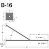 """B-16, 48"""" Arm (3/4"""" NPT) Thumbnail"""