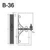 """B-36, 19"""" Arm (3/4"""" NPT) Thumbnail"""