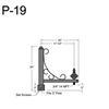 "P-19, 20"" Post Arm (3/4"" NPT) Thumbnail"