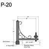 "P-20, 29"" Post Arm (3/4"" NPT) Thumbnail"