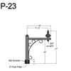 "P-23, 20"" Post Arm (3/4"" NPT) Thumbnail"