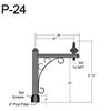 "P-24, 29"" Post Arm (3/4"" NPT) Thumbnail"