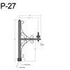 "P-27, 20"" Post Arm (3/4"" NPT) Thumbnail"