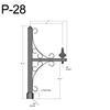 "P-28, 29"" Post Arm (3/4"" NPT) Thumbnail"