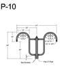 "P-10, 41"" Post Arm (1/2"" NPT) Thumbnail"