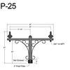 "P-25, 40"" Post Arm (3/4"" NPT) Thumbnail"