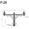 "P-26, 59"" Post Arm (3/4"" NPT) Thumbnail"