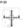 "P-30, 59"" Post Arm (3/4"" NPT) Thumbnail"