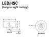 LED Hang Straight Canopy Thumbnail