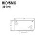 35-70W HID Stem Mount Canopy for Flat Ceilings Thumbnail