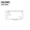 100-150W HID Stem Mount Canopy for Flat Ceilings Thumbnail