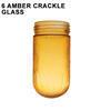 6 Amber Crackle Glass Thumbnail