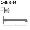 """QSNB-44, 11.5"""" Gooseneck Arm Thumbnail"""