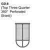 Top Three Quarter 360° Perforated Shield Thumbnail