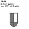 Bottom Quarter and 180° Half Shield Thumbnail