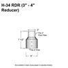 """3"""" to 4"""" Pole Reducer/Fitter Thumbnail"""