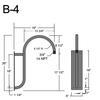 """B-4, 19"""" Gooseneck Arm (3/4"""" NPT) Thumbnail"""