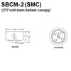 277V Commercial Voltage Ballast Mounted in SMC Canopy Thumbnail