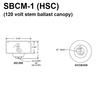 120V Residential Voltage Ballast Mounted in HSC Canopy Thumbnail