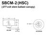 277V Commercial Voltage Ballast Mounted in HSC Canopy Thumbnail