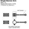 "12"" Single Banner Arm Thumbnail"