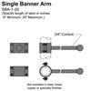 "20"" Single Banner Arm Thumbnail"
