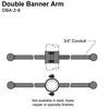 "8"" Double Banner Arm Thumbnail"