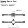 "12"" Double Banner Arm Thumbnail"