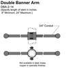 "14"" Double Banner Arm Thumbnail"