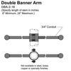 "16"" Double Banner Arm Thumbnail"