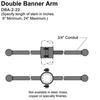"22"" Double Banner Arm Thumbnail"