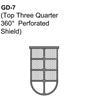 Top 3/4 360 Degree Perforated Shield Guard Thumbnail